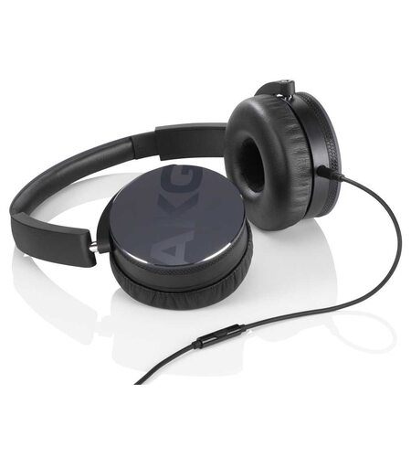 AKG Y50 Black On-Ear Headphone with In-Line One-Button Universal Remote/Microphone