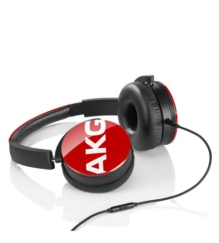 AKG Y50 Red On-Ear Headphone with In-Line One-Button Universal Remote/Microphone