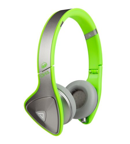 Monster DNA Neon On-Ear Headphones - Silver on Neon Green