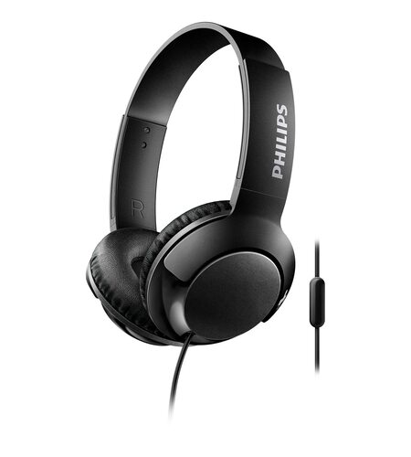 Philips SHL3075 Black Bass+ Microphone Headphone