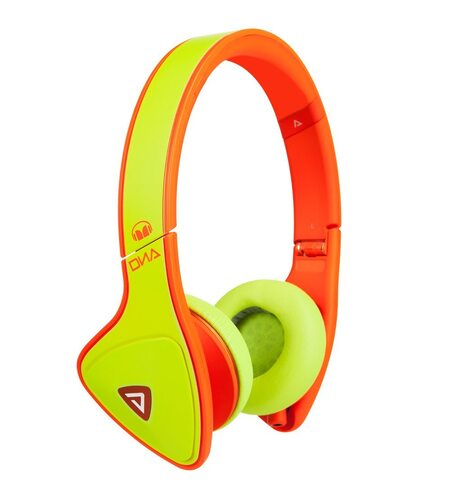 Monster DNA Neon Yellow/Orange On-Ear Headphones